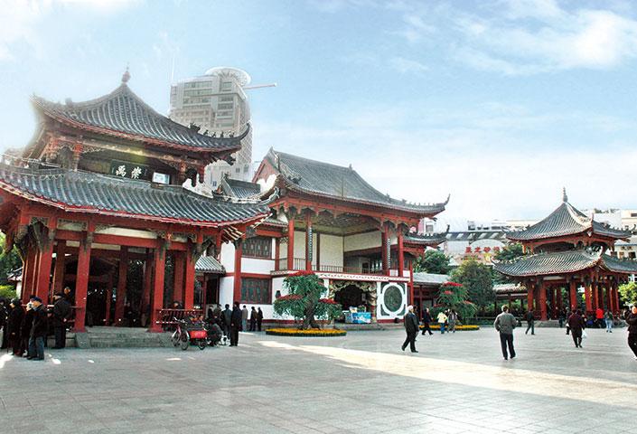 绵阳铁牛广场泗王庙